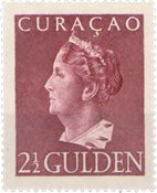 Curacao - 2 1/2 gld roodlila Konijnenburg (nr. 179, ongebruikt)
