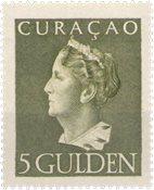 Curacao - 5 gld olijfgroen Konijnenburg (nr. 180, ongebruikt)