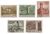Holland 1955 - NVPH 655-659 - Stemplet