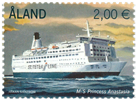 Åland - Passagerfærge - Postfrisk frimærke