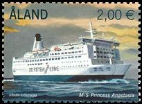 Åland - Ferry Princesse Anastasia - Timbre neuf