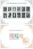 Frankrig - Marianne nye dagligmærker 2013 - Postfrisk miniark og sorttryk
