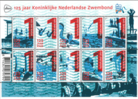 Netherlands - 125 years Dutch Swimming Union - Mint sheetlet