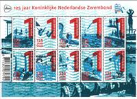 Pays Bas - 125 ans Association Natation Néerland. - Feuillet neuf