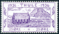 Thule no. 5 timbre + bloc de 4