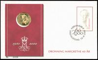 Fødselsdagsmøntbrev - Dronning Margrethe 60 år