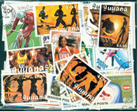 Winter and Summer Olympics - 100 different stamps