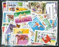 100张不同有关夏季奥运会的邮票