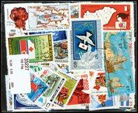 100张不同有关国旗的邮票