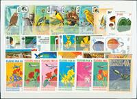 1000张不同全新的邮票来自全世界