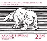 Groenland - La poste fête ses 75 ans - Timbre neuf