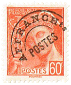 Frankrig - YT 83 på afklip - Forudannulleret