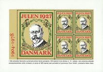 Danemark - Bloc de vignettes de Noël - Einar Holboell