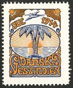 Danish West Indoes - Navidad seal 1914