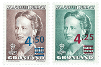 Groenland - Timbres provisoires, neufs