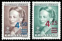 Grønland - Provisorier - Postfrisk