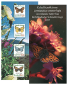Groenlandia 1997 - Farfalle - presentation pack