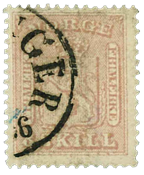 Norway 1863-66 - AFA no. 9 cancelled