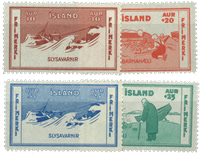 Island 1933 - AFA nr.167-170 postfrisk