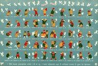 Tanska - Joulumerkkiarkki 1954 - Hammastamaton