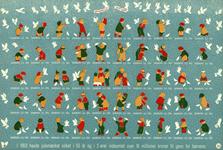 Danmark juleark 1954 utakket