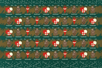 Danmark juleark 1956 utakket