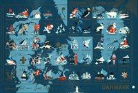 Tanska - Joulumerkkiarkki 1959 - Hammastamaton