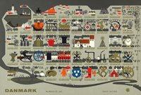 Tanska - Joulumerkkiarkki 1962 - Hammastamaton