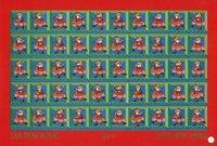 Tanska - Joulumerkkiarkki 1968 - Hammastamaton