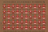 Tanska - Joulumerkkiarkki 1978 - Hammastamaton
