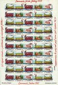 Danimarca - Natale 1985 - foglio chiudilettera nuovo