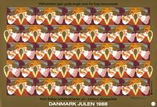 Danmark juleark 1988 utakket
