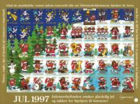 Danmark juleark 1997 utakket