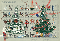 Danmark juleark 1961 utakket