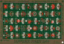 Danmark juleark 1989 utakket