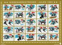 Danmark juleark 1995 utakket