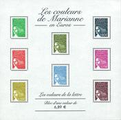 France souvenir sheet Marianne mint - Mint miniature sheet
