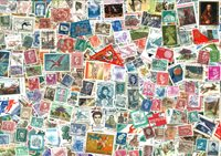 2500枚不同世界各地邮票