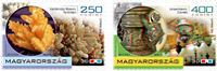 Hungary - 3D stamp and gemstones from the sea - Mint set 2v