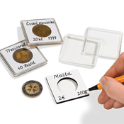 capsules QUADRUM NOTE pour pièces de monnaie de diamètre intr 27 mm, blanc