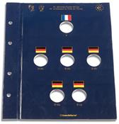 Feuille VISTA pour 6 pièces de 2 euros commémoratives *50 ans du Traité de