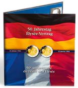 Album PRESSO pour 6 pièces de 2 euros commémoratives *50 ans du Traité de l'Elysée*
