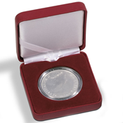 Astuccio NOBILE per monete - diametro 30 mm - Rosso