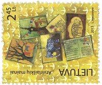 Lituanie - Postcrossing - Timbre neuf