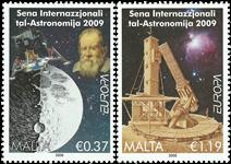 Malta - Astronomi - Postfrisk sæt 2v