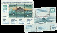 Greenland Hafnia souvenir sheets 1 +2