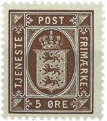 Danemark 1921 Service 5 øre brun - Série neuve 4v