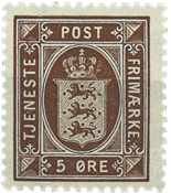 Denmark 1921 - AFA no. tj18 - Official stamps - 5 øre brown