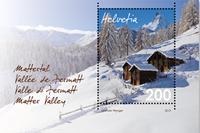Schweiz - Matterdalen - Postfrisk miniark