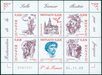 Monaco - Salle Garnier - Postfrisk miniark
